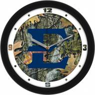 East Tennessee State Buccaneers Camo Wall Clock