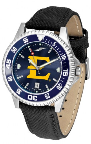 East Tennessee State Buccaneers Competitor AnoChrome Men's Watch - Color Bezel
