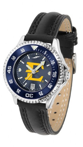 East Tennessee State Buccaneers Competitor AnoChrome Women's Watch - Color Bezel
