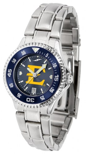 East Tennessee State Buccaneers Competitor Steel AnoChrome Women's Watch - Color Bezel