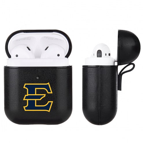 East Tennessee State Buccaneers Fan Brander Apple Air Pods Leather Case