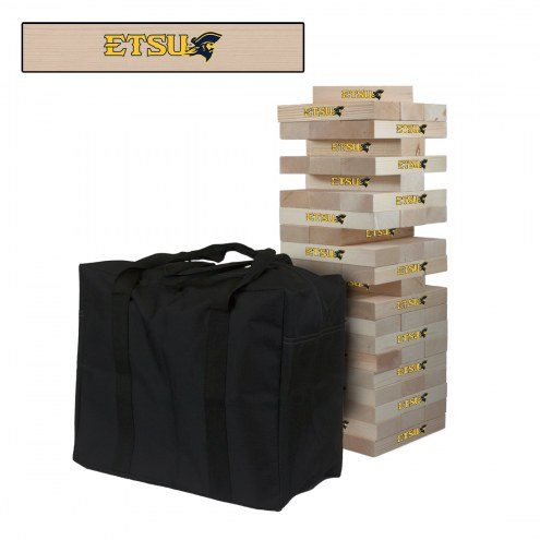 East Tennessee State Buccaneers Giant Wooden Tumble Tower Game