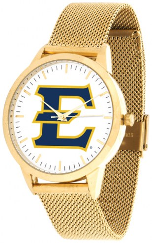 East Tennessee State Buccaneers Gold Mesh Statement Watch