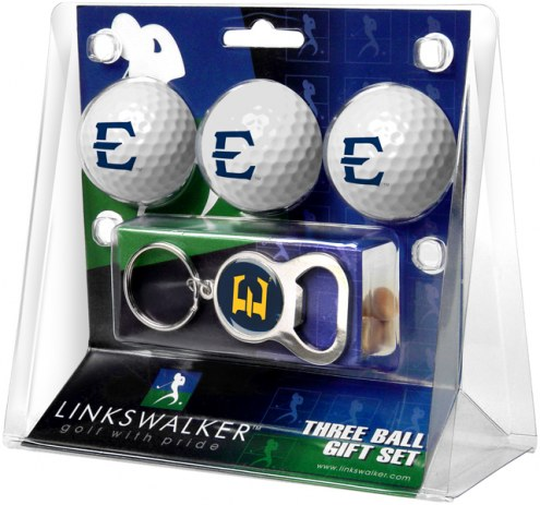 East Tennessee State Buccaneers Golf Ball Gift Pack with Key Chain