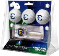 East Tennessee State Buccaneers Golf Ball Gift Pack with Kool Tool