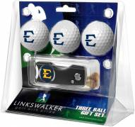 East Tennessee State Buccaneers Golf Ball Gift Pack with Spring Action Divot Tool
