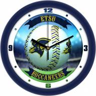 East Tennessee State Buccaneers Home Run Wall Clock