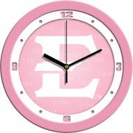 East Tennessee State Buccaneers Pink Wall Clock