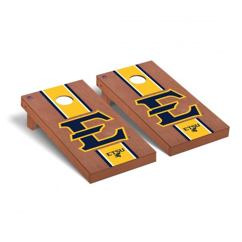 East Tennessee State Buccaneers Rosewood Stained Cornhole Game Set