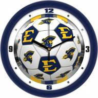 East Tennessee State Buccaneers Soccer Wall Clock