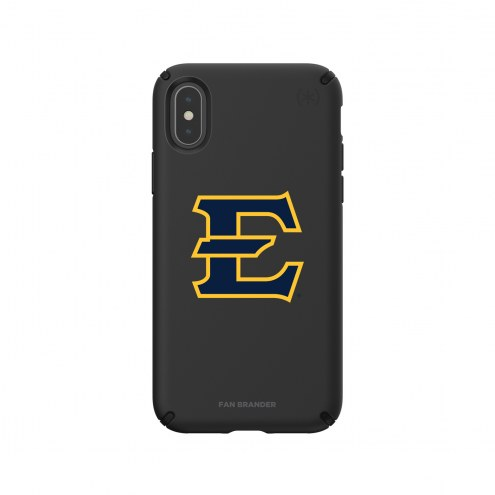 East Tennessee State Buccaneers Speck iPhone X/Xs Presidio Pro Black Case