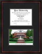 East Carolina University Diplomate Framed Lithograph with Diploma Opening