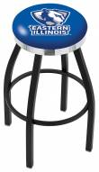 Eastern Illinois Panthers Black Swivel Barstool with Chrome Accent Ring