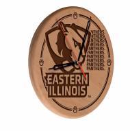 Eastern Illinois Panthers Laser Engraved Wood Clock