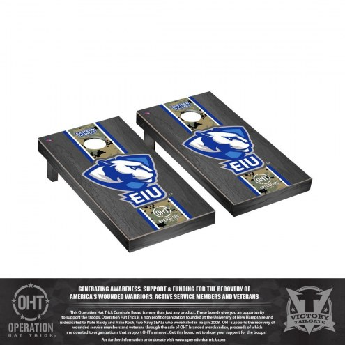 Eastern Illinois Panthers Operation Hat Trick Stained Cornhole Game Set