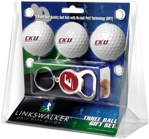 Eastern Kentucky Colonels Golf Ball Gift Pack with Key Chain