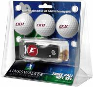 Eastern Kentucky Colonels Golf Ball Gift Pack with Spring Action Divot Tool