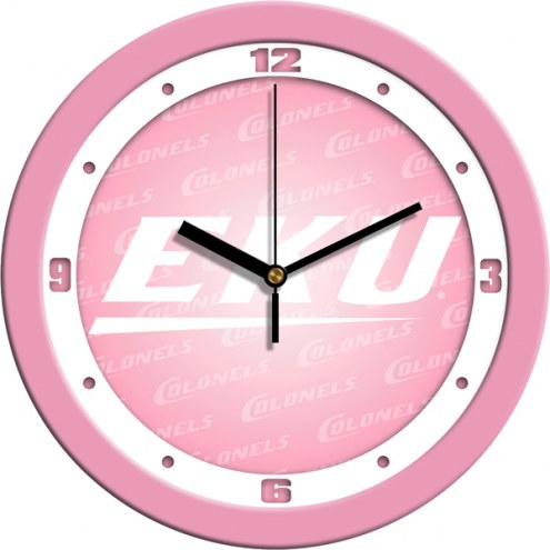 Eastern Kentucky Colonels Pink Wall Clock