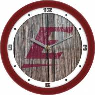 Eastern Kentucky Colonels Weathered Wood Wall Clock
