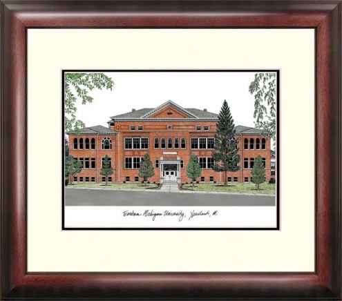 Eastern Michigan Eagles Alumnus Framed Lithograph