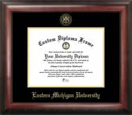 Eastern Michigan Eagles Gold Embossed Diploma Frame