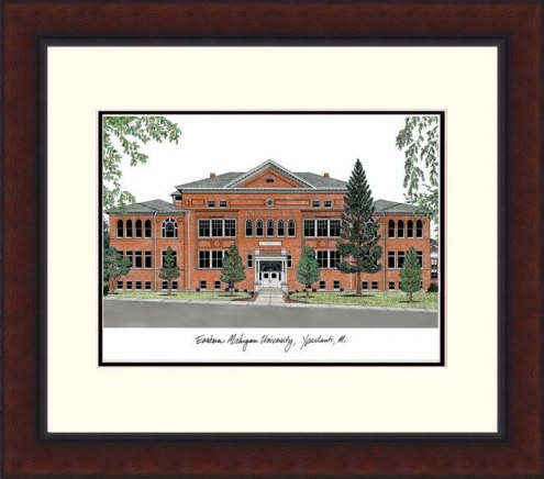Eastern Michigan Eagles Legacy Alumnus Framed Lithograph