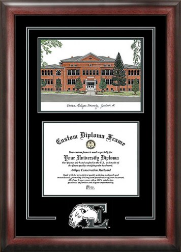 Eastern Michigan Eagles Spirit Diploma Frame with Campus Image