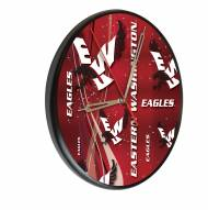 Eastern Washington Eagles Digitally Printed Wood Clock