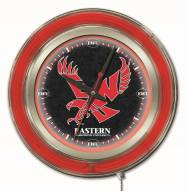 Eastern Washington Eagles Neon Clock