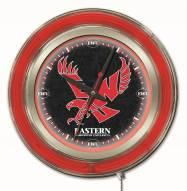 Eastern Washington Eagles Neon Clock