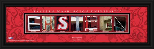 Eastern Washington Eagles Personalized Campus Letter Art