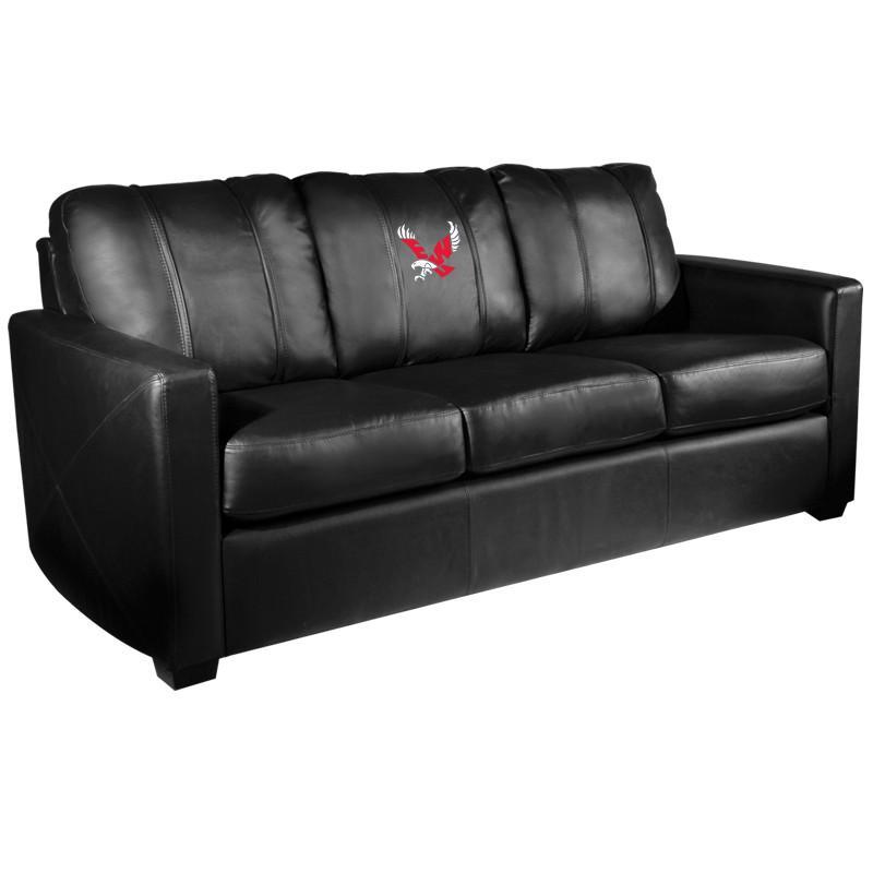 Amazing Eastern Washington Eagles Xzipit Silver Sofa With Solo Logo Ibusinesslaw Wood Chair Design Ideas Ibusinesslaworg