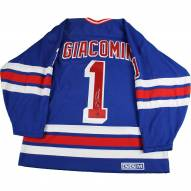 Eddie Giacomin Signed New York Rangers Blue Jersey