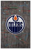 "Edmonton Oilers 11"" x 19"" City Map Sign"