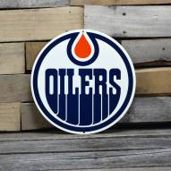 "Edmonton Oilers 12"" Steel Logo Sign"