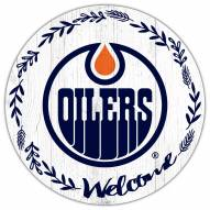 """Edmonton Oilers 12"""" Welcome Circle Sign"""