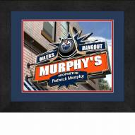 Edmonton Oilers 13 x 16 Personalized Framed Sports Pub Print