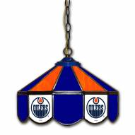 "Edmonton Oilers 14"" Glass Pub Lamp"