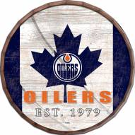 "Edmonton Oilers 16"" Flag Barrel Top"