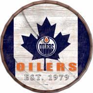 """Edmonton Oilers 16"""" Flag Barrel Top"""