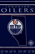 "Edmonton Oilers 17"" x 26"" Coordinates Sign"
