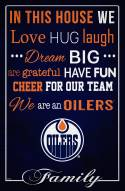 """Edmonton Oilers 17"""" x 26"""" In This House Sign"""