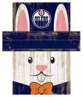 "Edmonton Oilers 19"" x 16"" Easter Bunny Head"