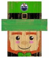 "Edmonton Oilers 19"" x 16"" Leprechaun Head"