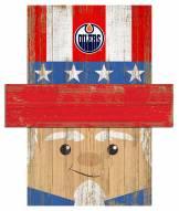 "Edmonton Oilers 19"" x 16"" Patriotic Head"