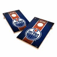 Edmonton Oilers 2' x 3' Vintage Wood Cornhole Game