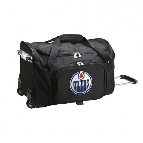 "Edmonton Oilers 22"" Rolling Duffle Bag"