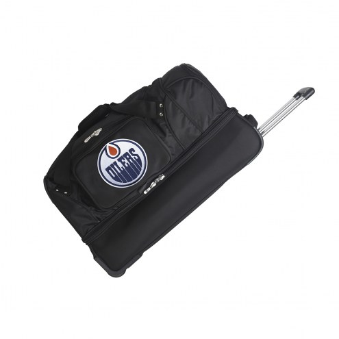 "Edmonton Oilers 27"" Drop Bottom Wheeled Duffle Bag"