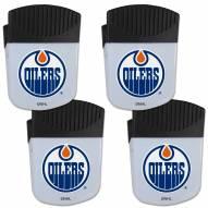 Edmonton Oilers 4 Pack Chip Clip Magnet with Bottle Opener