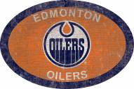 "Edmonton Oilers 46"" Team Color Oval Sign"